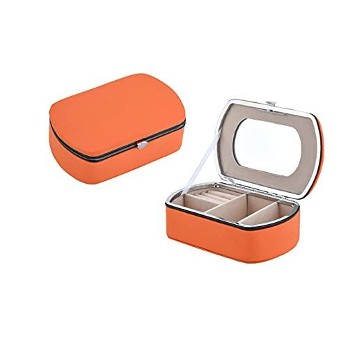 Recet Joyero Love Lock de piel sintética, tamaño mediano, fácil de transportar
