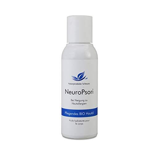 Naturprodukte Schwarz - NeuroPsori Hautöl - Bei Neurodermitis & Schuppenflechte - Mit Nachtkerzenöl und Hanföl, 100ml