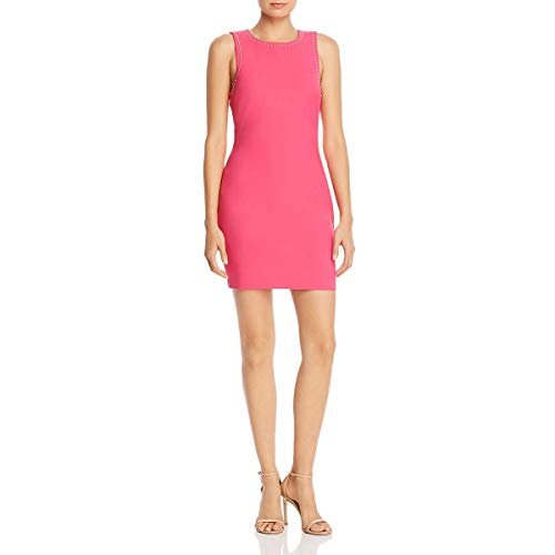 LIKELY Women's Studded Sleeveless Mini Cocktail Dress Pink Size 6