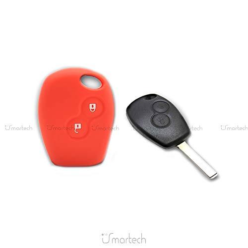 Brovacs Coque de protection en silicone pour clé de voiture CV4350 adapté à Renault Dacia 2 boutons