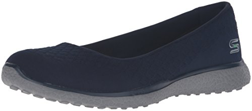 Skechers Microburst-One-Up, Zapatillas Mujer, Multicolor (NVY Black Mesh/Charcoal Trim), 40 EU