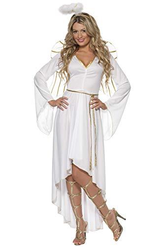 Smiffys, Damen Engel Kostüm, Kleid, Gürtel, Heiligenschein und Flügel, Größe: S, 36977