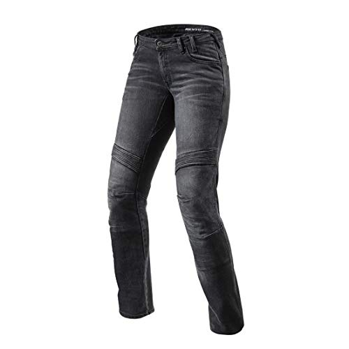Revit Moto Ladies Motorcycle Jeans Black L32, W28