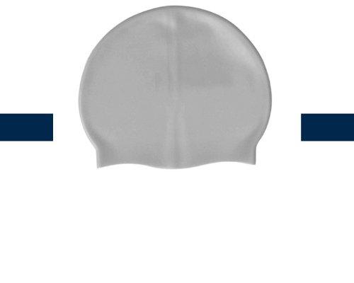 Bonnet de bain 100% silicone taille unique de couleur Argent - Visiodirect -
