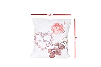 DiscountWorld HD-4890-TP Floral44  Love Time Decorative Pillow for Home Decor - Set of 2