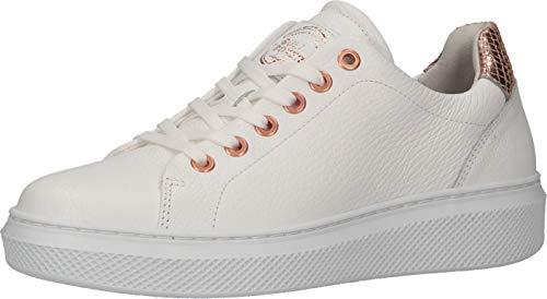 BULLBOXER Damen Low-Top Sneaker, Frauen Halbschuhe,Halbschuhe,straßenschuhe,Freizeitschuhe,Plateausohle,weiblich,Lady,Weiß (White),38 EU / 5 UK