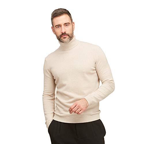 Coltrui pullovers heren 100% wol kleur beige