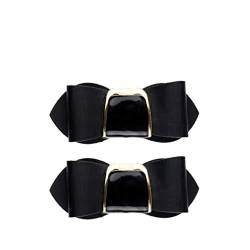 Hongma Un Par Clip Zapatos Corbata Lazo Cuero Sintético