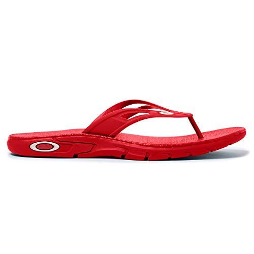 Oakley Ellipse Mens Flip Flop Sandals High Risk Red 10 USA