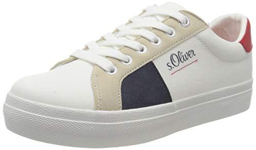 s.Oliver 5-5-23621-24, Zapatillas Mujer, Color Blanco Comb 110, 40 EU