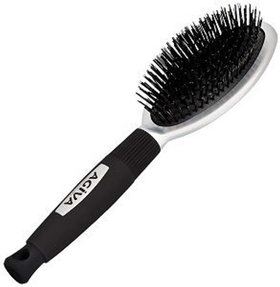 枯れる粘性の繊細細い脆い髪のための天然のイノシシ剛毛とAgiva髪ブラシ