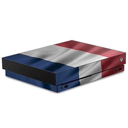 DeinDesign Skin kompatibel mit Microsoft Xbox One X Folie Sticker Flagge Frankreich Flaggen