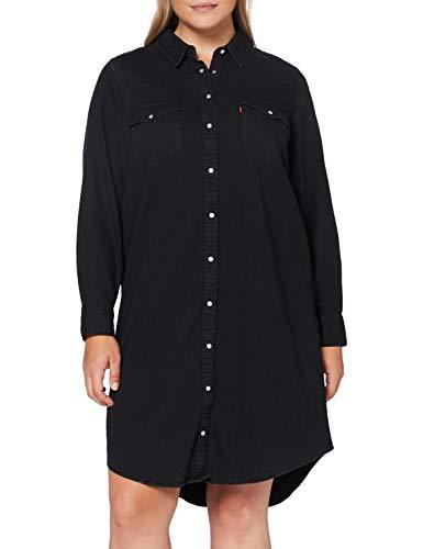 Levi's Plus Size Damen Plus Western Casual Dress, Black Book (Grey), 1 Xx