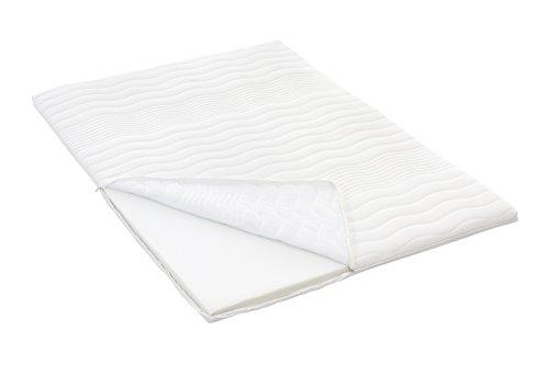 Möbelfreude PU-Schaum Topper 140 x 200 cm für Boxspringbetten und Matratzen | Gesamthöhe: 6 cm | Matratzenauflage für unbequeme Betten und Doppelbetten | Schlafen wie auf Wolken