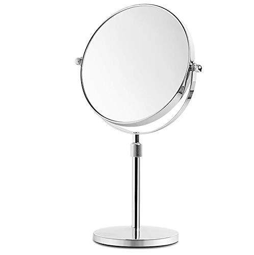 Bath Miroirs de Maquillage grossissants de Table à Double Face, miroirs de Rasage à Haute définition avec Rotation de 360 degrés,3X_8inch