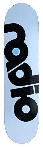 Radio Skateboards Skateboard Deck OG Logo weiss (white) inkl. Griptape 7,875