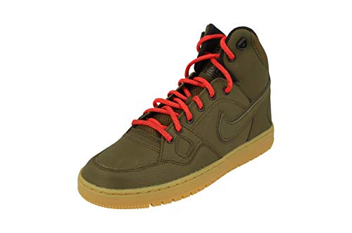 Nike Herren Son of Force Mid Winter Basketballschuhe, grün/orange/vergoldet/braun (Drk LDN/Drk LDN-blk-Brght Crms), 46 EU