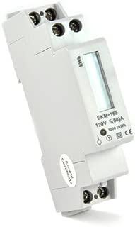 EKM Metering kWh Electric Meter: 120 Volt, 2-Wire, External 14mm, 50 Amp