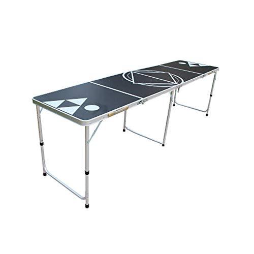 DUTUI Klappbarer Spieltisch, Picknick Im Freien, Party, Tischtennisplatte Zu Hause, Tragbarer Bierspieltisch, 240 cm X 60 cm X 70 cm
