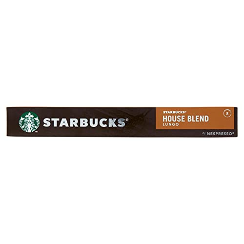 Starbucks By Nespresso House Blend Lungo Coffee Pods, 10 Capsules, 57 g