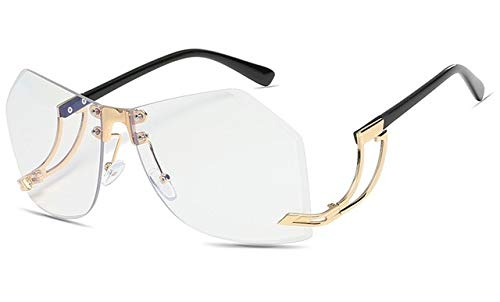 AJIAO Gafas de Sol 8 Colores Gafas De Sol Sin Marco Irregulares Mujeres Gradiente Marco De Aleación Gafas De Marca Diseñador Moda Mujer Tonos