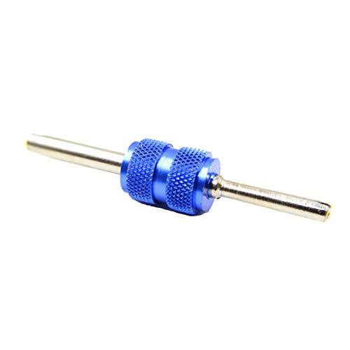 Fin dual de 2 maneras destornillador Destornillador coche universal válvula de vástago de válvula del neumático vástago central de instalador para desmontar neumáticos de la válvula principal Llave