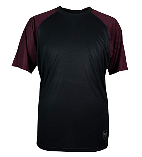 Royal Racing HERITAGE manches courtes Maillot Mixte Adulte Noir/Rouge Prune Chiné FR : L (Taille Fabricant : L)