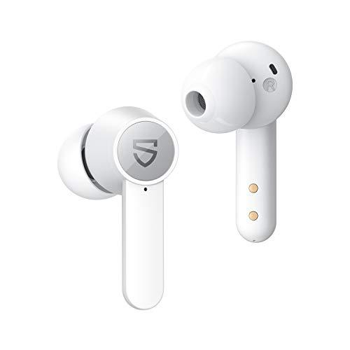 SoundPEATS Cuffie Bluetooth con Ricarica Senza Fili, Auricolari Bluetooth 4 microfoni, Bassi Profondi con Driver da 10 mm, Auricolari Wireless Durata 21 Ore, Controllo Touch