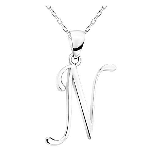 SOFIA MILANI - Collar para Mujeres en Plata de Ley 925 - Colgante de N Carta - 50355
