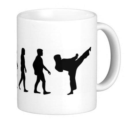 S.B.J - Sportland hochwertige Premium Keramik Tasse Evolution Karate