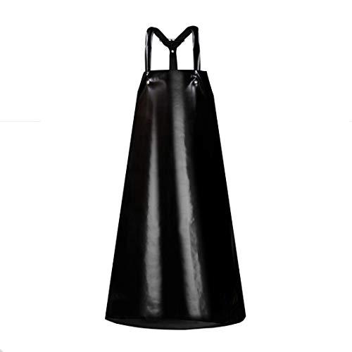 Profi schwarze Säureschürze 170x176 Gummischürze Fleischerschürze Arbeitsschürze