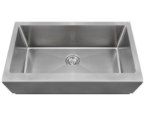Polaris Sinks P504 Stainless Steel Single Bowl Apron Kitchen Sink - Stainless Steel