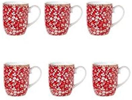 Preisvergleich für 6 x SENSEO kleine Tassen Pip lovely branches rot red je für 145ml
