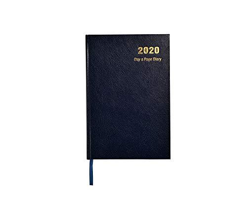 Agenda 2020 giornaliera, formato A4, copertina rigida e nastro segnalibro, planner annuale per affari, ufficio, casa, viaggi, organizzazione e appuntamenti, colore blu (lingua italiana non garantita)