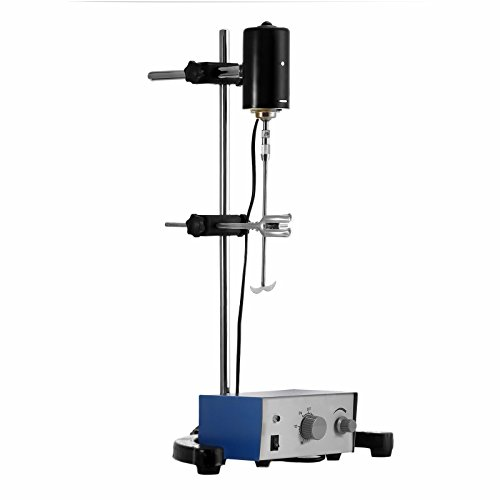 Mophorn Electric Overhead Stirrer Mixer 0-2000 RPM Overhead Stirrer Mixer 100W Overhead Stirrer 0-120 Minutes for Lab Mechanical Mixer