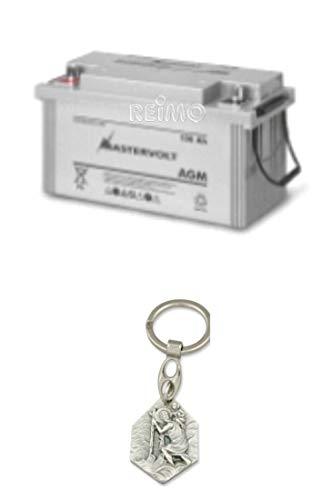 Zisa-Kombi Mastervolt Batterie AGM 12/160 Ah (93298884089) mit Anhänger Hlg. Christophorus