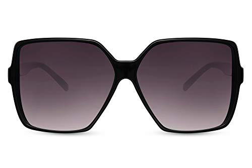 Cheapass Sunglasses Gafas de sol de gran tamaño Mariposa cuadrada Celebrity Moda Tonos negros con lentes degradados oscuros Mujeres protegidas UV400