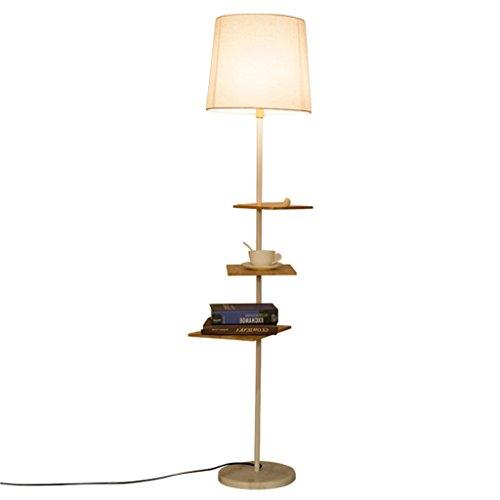 Amerikanischen lesen stehlampe minimalistischen schlafzimmer wohnzimmer vertikale metall stehleuchte kreative racks palette leve stehlampe (schwarz + weiß) (Farbe : Weiß)