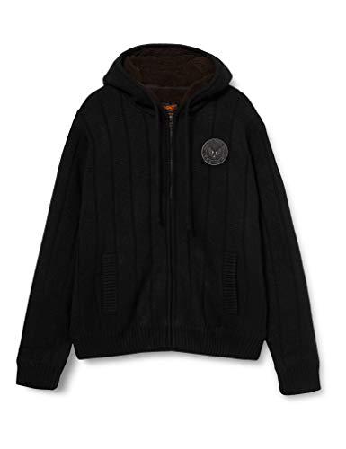 Schott NYC Pull/Sweater Homme, Noir, (Taille fabricant: Medium)