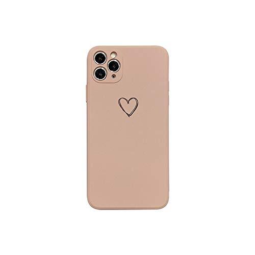 Funda líquida de silicona para iPhone 11 XR 7 8 Plus 11Pro XS Max lente cuadrada de protección de cámara para iPhone SE-Rosa-para iPhone 7 Plus
