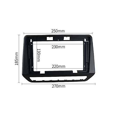 CMEI Radio Fascia Fit for Renault TRIBER 2019 Stereo GPS DVD Player Install Surround Trim Panel Face Plate Dash Mount Kit Bezel Frame