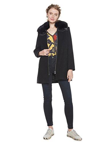 Desigual Damen Mantel ABRIG_COLLIN, Schwarz (Negro 2000), 42 DE (Herstellergröße: 44)