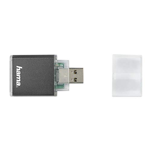 Hama Kartenleser USB 3.0 (Kartenlesegerät für SD I SDHC I SDXC Speicherkarten I Card Reader für Windows PCs/Mac/Notebook/Laptop/TV) anthrazit