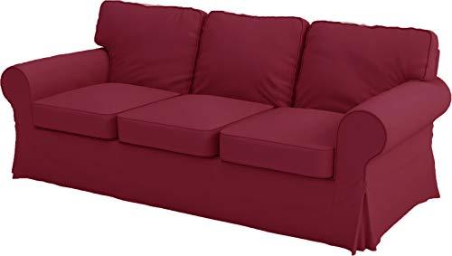 Good Life IKEA Ektorp 3 Sitz Sofa-Abdeckung Ersatz ist nach Maß Slipcover Für IKEA Ektorp-Sofa-Abdeckung Weinrot