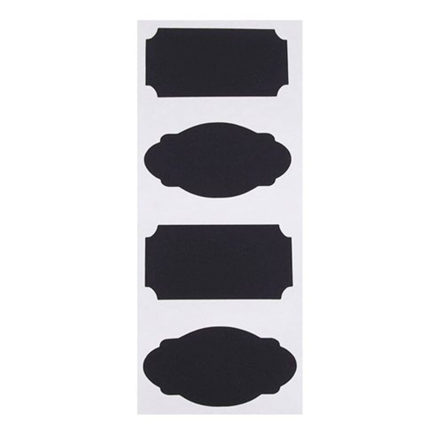 Homeford Firefly Imports Chalkboard Label Stickers, Rectangle, 3-Inch, 4-Pack, 3