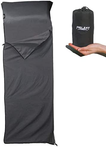 Frelaxy Sleeping Bag Liner with Full Length Zipper Pillow Pocket Comfy Easy Care Travel Camping product image
