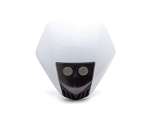 Bianco Fari Moto Maschera - LED 12V 10W - Progetto Streetfighter Supermoto