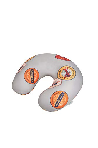 Samsonite Global Travel Accessories Microbead Travel Pillow, 32 cm, Grey (Heritage Patches)