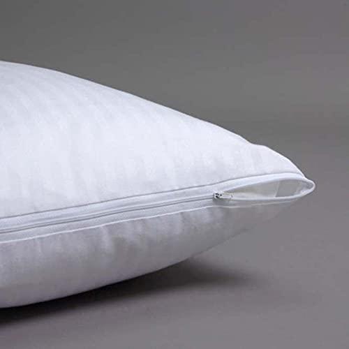 10XDIEZ Funda Almohada algodón cruzadillo | (90x40 cm - Blanco)
