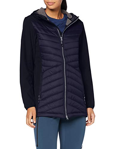 Cmp Giacca Lunga In Softshell, Donna, Black Blue, 52, Black Blue